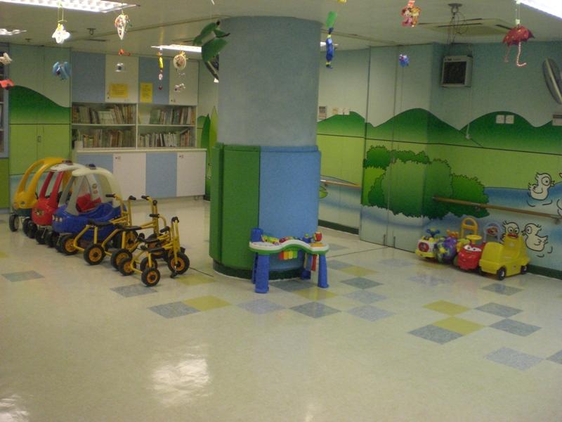 大肌肉室可讓學童進行體能活動、大肌肉訓練、家長及義工活動