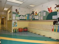 """Musical Farm"" is the theme of entrance. It provides a tranquil environment for parents to use our facilities."