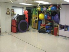 Therapy Room for professional gross motor and fine motor training