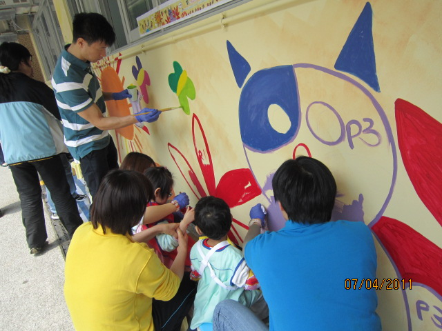 Standard Chartered Supported Mural Painting at Wan Tsui Centre (West Wing)